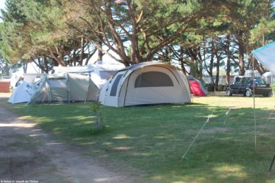 Emplacement tente, camping de l'océan à St-Pierre Quiberon