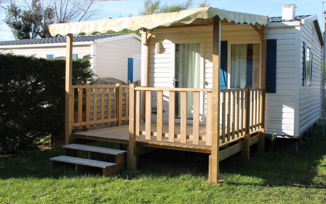 Mobil home 1 chambre 2 3pers 16m relais de l 39 oc an for Isolation exterieur mobil home