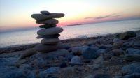 Zen attitude – galets – Plage