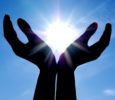 Sun in hands. Conceptual design.