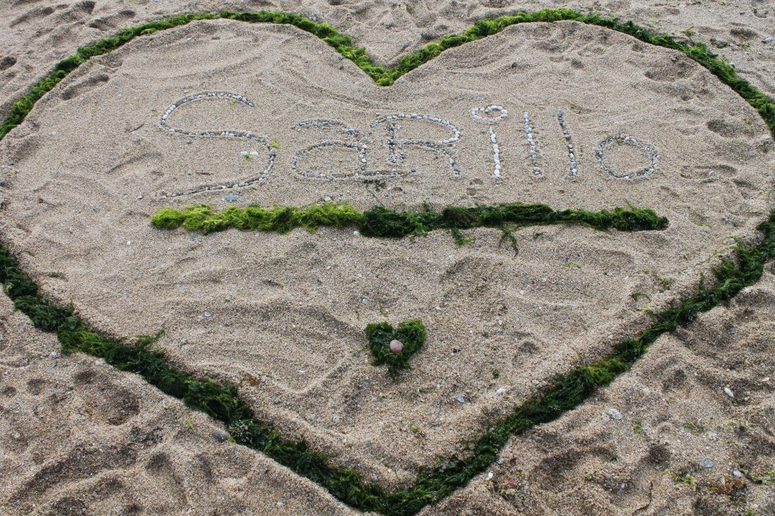 Land Art sur la plage de la Maison St Joseph