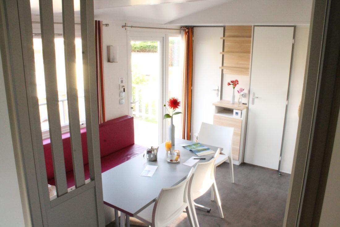 Mobil home 3ch - Salon intérieur