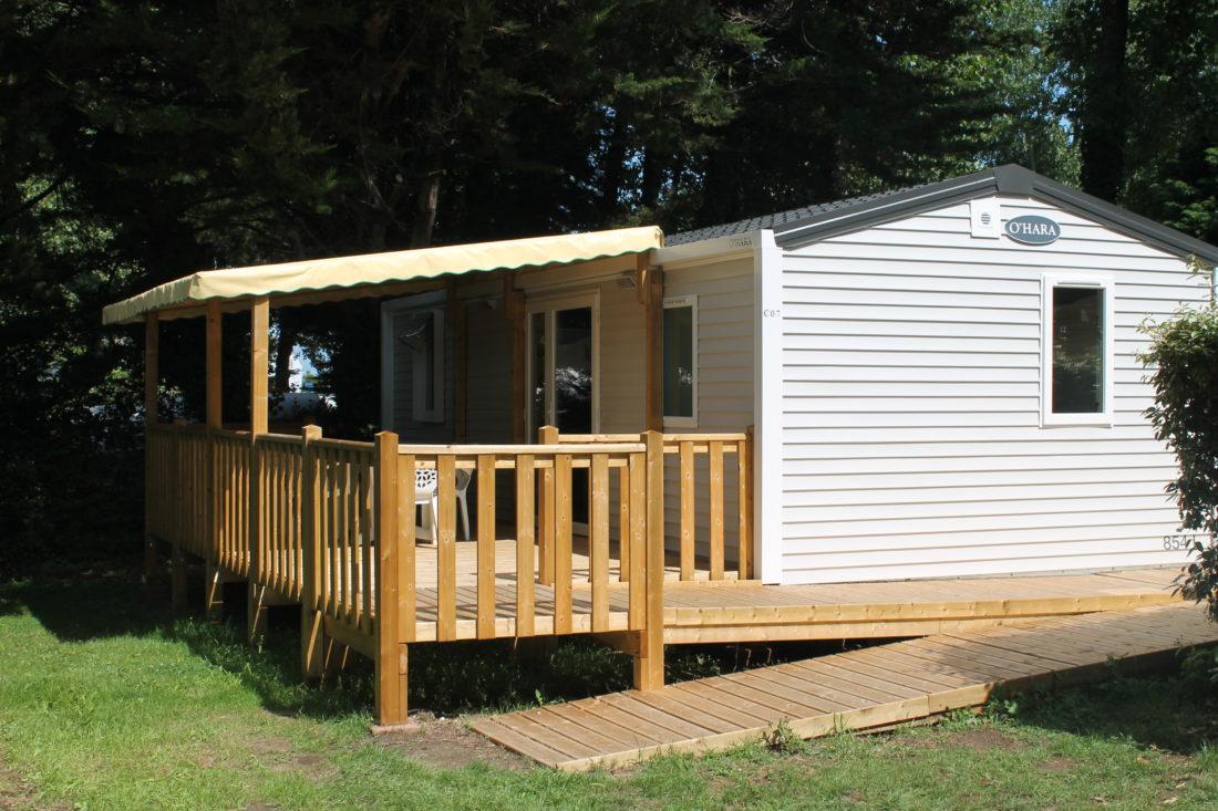 Mobil home accessible PMR - extérieur