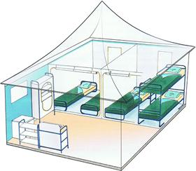 Tentes aménagées - Plan 3D