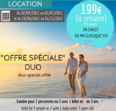 offre duo à 199€ la semaine